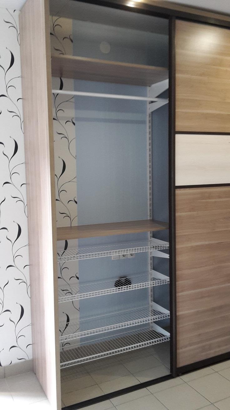 Гамма мебели - наполнение шкафа-купе(сетчатые полки,полки лд.